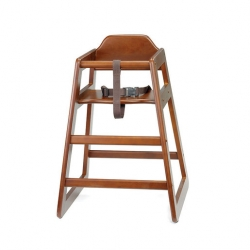 High Chair Self Assembly Walnut 20x19x26.75 inch