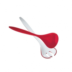 Guzzini Two-Tone Salad Servers 27cm Red