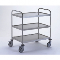 Tournus Equipement Clearing Trolley with 2 Handles - 3 Tray 1000x600mm