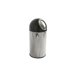Push Bin 40 ltr s/s with Black Dome