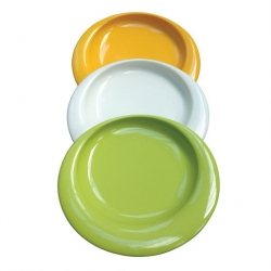 Wade Dignity Plate Raised Lip Yellow 23cm Ceramic