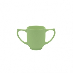 Wade Dignity 2 Handled Mug Green Ceramic 25cl