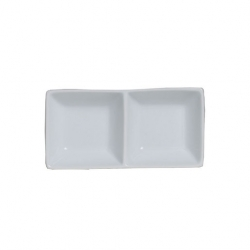 Steelite Double Well Rectangle Tray 14.6cm