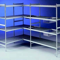 EAIS Connecta Polymer Shelves 4 Tier 1216mm x 373mm