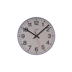 Clock White Plastic Case 25.5cm