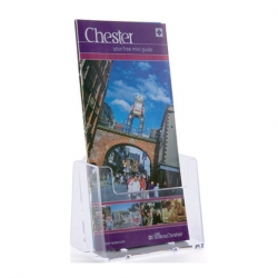 1/3 A4 Card & Leaflet Holder Clear Acrylic (Sold Singly)