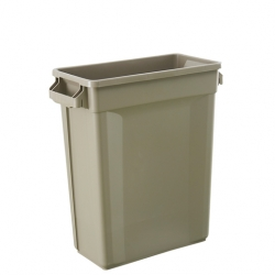 Svelte Bin with Venting Channels 60L, Beige (Sold Singly)