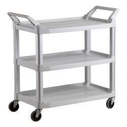 Heavy Duty Utility Service Cart White (Sold Singly)