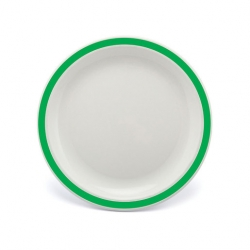 Harfield Duo Plate Narrow Rim Emerald Green 23cm Poly