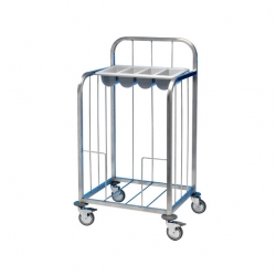 EAIS Tray Pick-Up Trolley S/S Frame 100 Trays