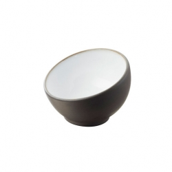 Revol Solid Mise En Bouche Bowl Black / White 4cl