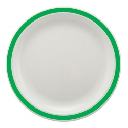 Harfield Duo 17cm Plate With Emerald Green Colour Band