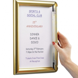 A3 Poster Frame Polished Gold 33.2 x 45.5cm (Sold Singly)