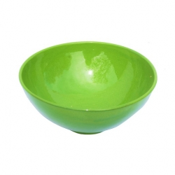 Colourful Terracotta Deep Round 19cm Bowl Green (6 pcs)