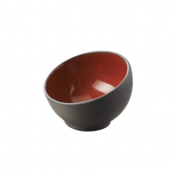 Revol Solid Mise En Bouche Bowl Black / Red 4cl