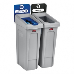 Rubbermaid Recycling Bin 2 Stream Bundle