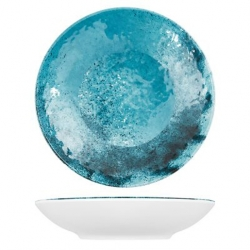 Creative Blue Larnaca Sand Melamine Coupe Bowl Dia 240x50mm