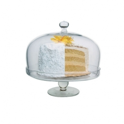 Artland Simplicity Glass Cake Stand With Dome