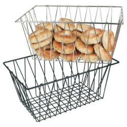 Display Basket Black Wire Oblong 45 x 30 x 20cm (Sold Singly)