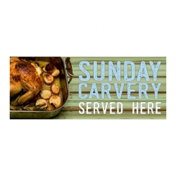 Carvery PVC Banner Large 2000x800mm (Sold Singly)