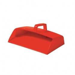 Dustpan Enclosed Red Plastic (Sold Singly)