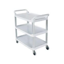 Rubbermaid X-tra Trolley 3 Tier White Frame (Sold Singly)