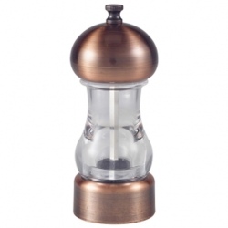 Antique Copper & Acrylic Salt Pepper Grinder 14cm (Sold Singly)