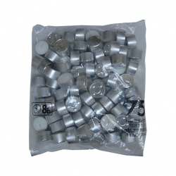 Bolsius Tealights 8 Hour Unscented Bag Of 75