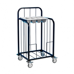 EAIS Tray Pick-Up Trolley Painted Frame 100 Trays