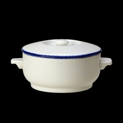 Steelite Blue Dapple Lid for Soupe Bowl