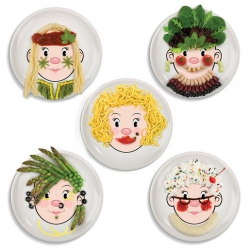 Ms Food Face Dinner Plate (Sold Singly)