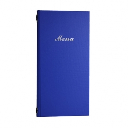 2/3rd A4 Buckram menu 4 card Blue 31.5 x 15.5cm (Sold Singly)