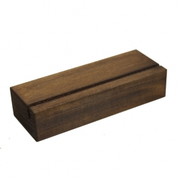 Chalkboards UK Block Menu Holder 210 x 75 5mm Dark Oak
