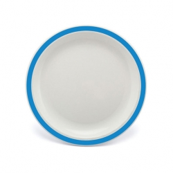 Harfield Duo Plate Narrow Rim Blue 23cm Polycarbonate