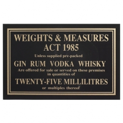 Sign - Weights & Measure 35ml (Sold Singly)