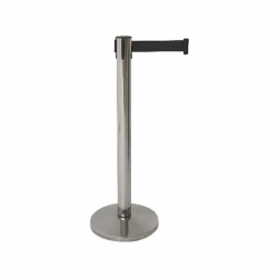 Neville Black Belt Barrier Stainless Steel Post 2m