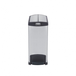 Slim Step-On Bin End Step S/S 30 ltr Black Trim (Sold Singly)