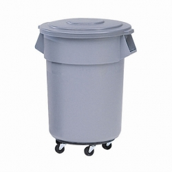 Brute Round Containers Grey 37.9ltr (Sold Singly)