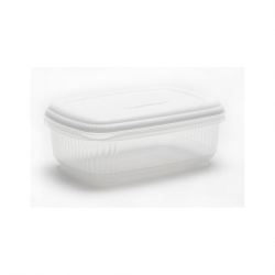2ltr Rect Food Saver White Lid (6 pcs)