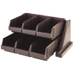 Cambro Cutlery Dispenser Plastic 6 Compartments Brown