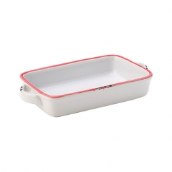 Avebury Red Large Rectangular Dish 8.5 inch 22cm (12 pcs)
