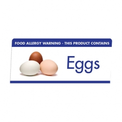 Mileta Allergen Buffet Notice Eggs