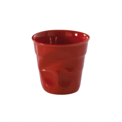 Revol Froisse Tumbler Crumple Red 8cl