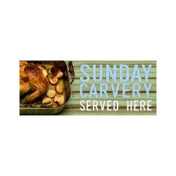 Carvery PVC Banner Small 1500x600mm (Sold Singly)