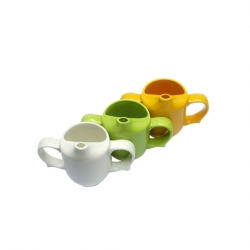 Wade Dignity 2 Handled Feeder Cup Green Ceramic 25cl