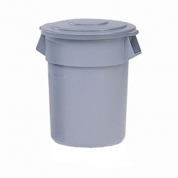 Rubbermaid Brute Round Containers Grey 121ltr