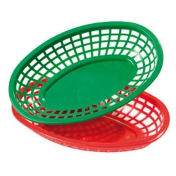 Bowl Red Polypropylene Oval 25cm