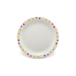 Harfield Duo Plate Narrow Rim Abstract Multi 17cm Poly