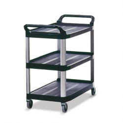 Utility Trolley All Purpose Black (Sold Singly)