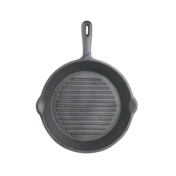 Kitchencraft Cast Iron Skillet 24cm Ribbed